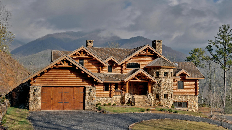 Luxury mountain estate chipmunk hollow the wine cellar for Luxury log cabin kits